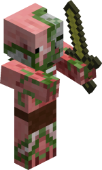 Зомби-свиночеловек в майнкрафт