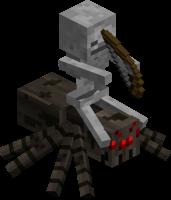 Скелет наездник в майнкрафт
