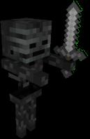 Скелет иссушитель в майнкрафт