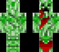 Скин раненого крипера