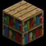 Книжный шкаф в майнкрафт (minecraft)