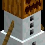 Снежный голем в майнкрафт (minecraft)