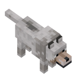 Волк в майнкрафт (minecraft)